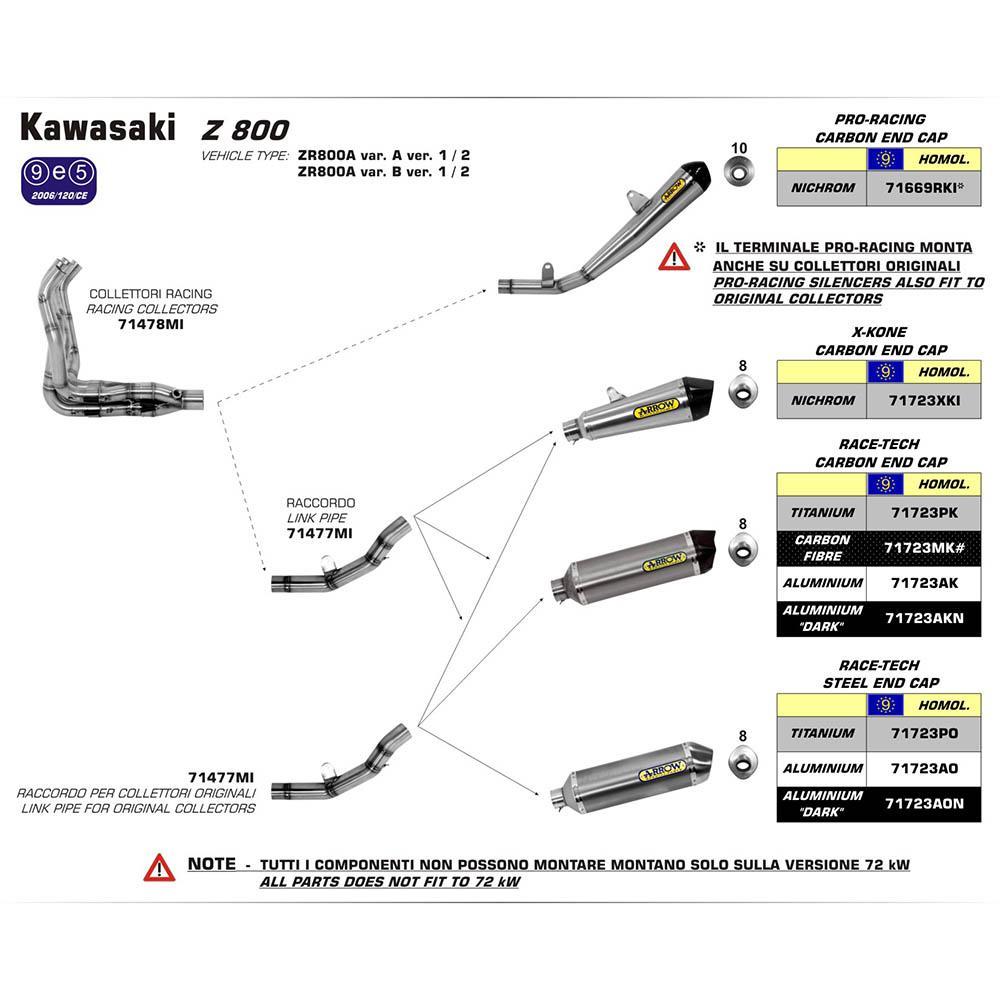 ARROW KAW Z800 13 SS MID-PIPE - Link International