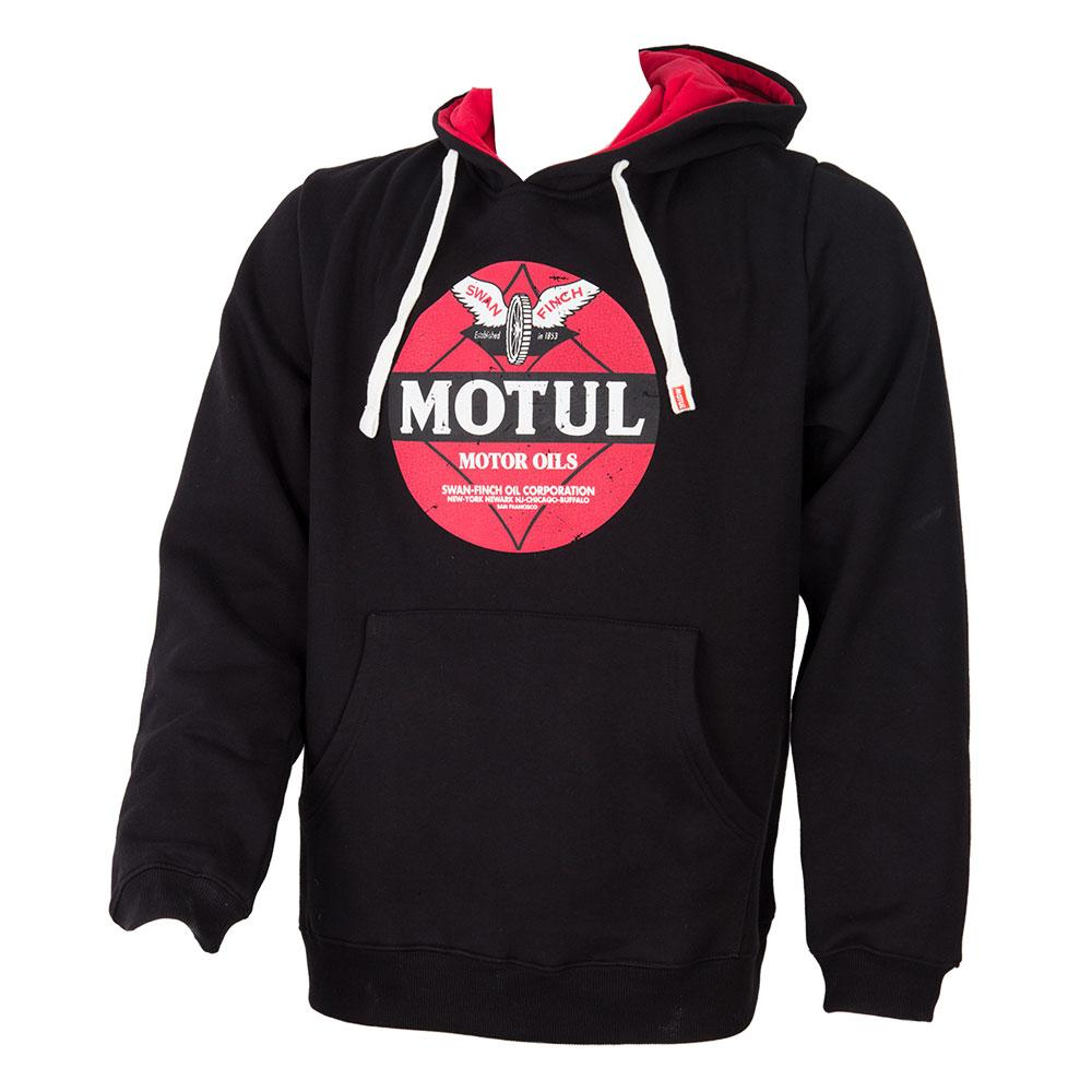 MOTUL BLACK RETRO HOODIE - MEDIUM