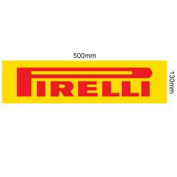 PIRELLI STICKER LARGE 500MM X 130MM