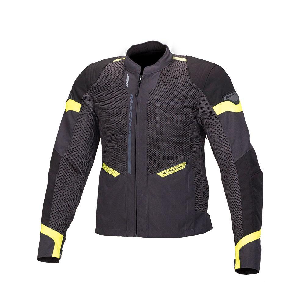 Macna Event Ivory/Black/Fluro Green Jacket