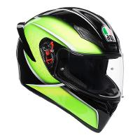 AGV K-1 Qualify Black Lime Range